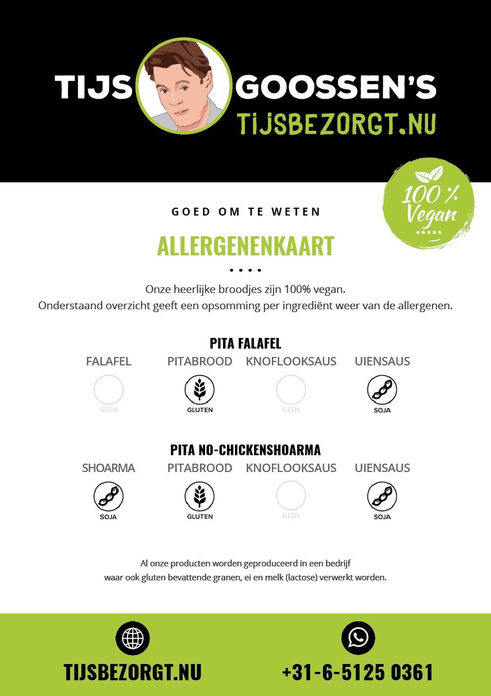 Tijsbezorgt.nu allergenenkaart